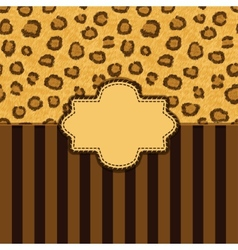 Leopard skin background vector
