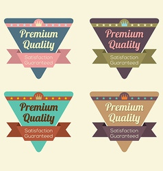 Set of triangle vintage retro badge vector