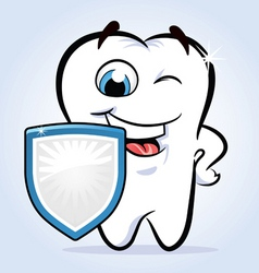 Tooth shield safeguard vector