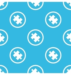 Puzzle sign blue pattern vector