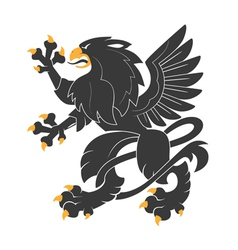 Heraldic griffin7 vector
