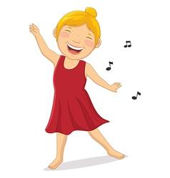 Happy girl dancing vector