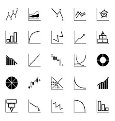 Economic and investment diagram line icon on white vector