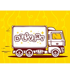 Truck free and fast delivery to customer vector