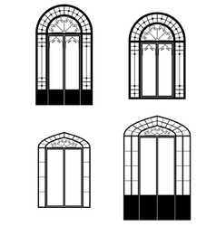 Windows and doorwindows vector
