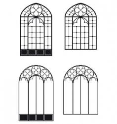 Windows and door windows vector