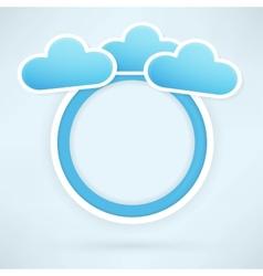 Cloud paper circle vector