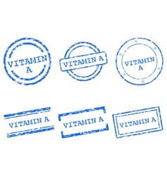 Vitamin a stamps vector