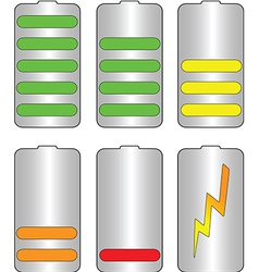 Battery levels vector