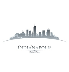 Indianapolis indiana city skyline silhouette vector