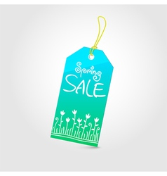 Spring sale tag 02 vector