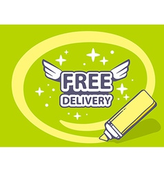 Marker drawing circle around free deliver vector
