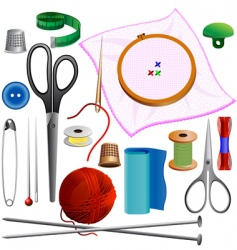 Sewing kit vector