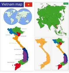 Vietnam map vector