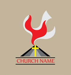 Holyspirit church logo vector