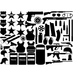 Police tools vector