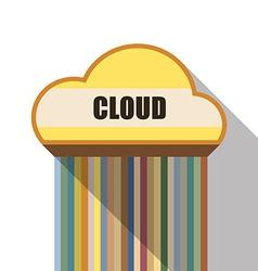 Cloud symbol flat design vector