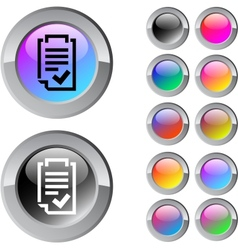 Form multicolor round button vector
