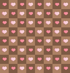 Seamless background chocolate squares vector