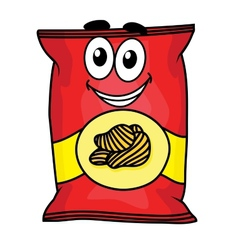 Cartoon potato chips character vector