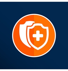 Medical shield icon shield flat health cross vector