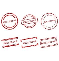 Exclusive stamps vector