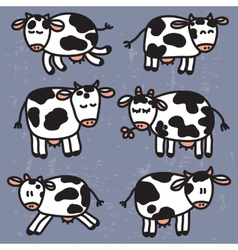 Set with cute cows eps10 vector