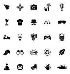 Hipster icons on white background vector