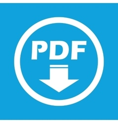 Pdf download sign icon vector