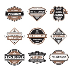 Graphic badges collection vector