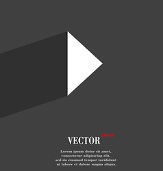 Play button icon symbol flat modern web design vector