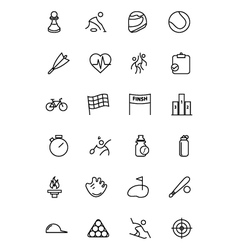 Sports line icons 2 vector