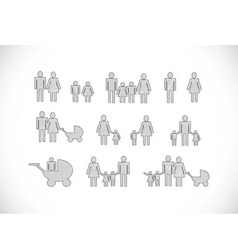 People family icon pictogram people vector