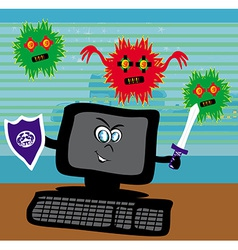 Computer virus attacking vector