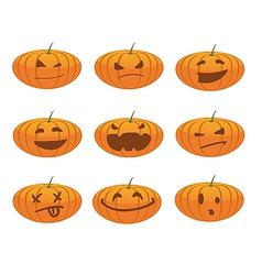 Pumpkin smiles vector