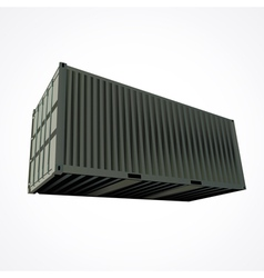 Shipping container vector