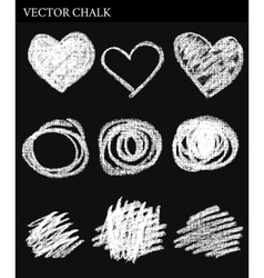 Chalk circles vector
