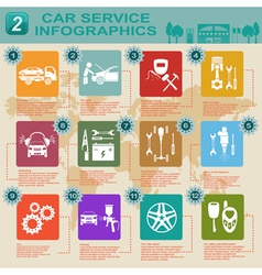 Car service infographics 9 vector