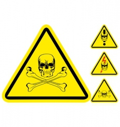 Sign on danger vector