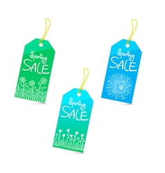 Spring sale tags set vector