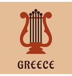 Ancient greek lyre culture symbol vector