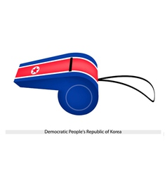 A whistle of democratic peoples republic of korea vector