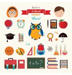 Back to school elements vector