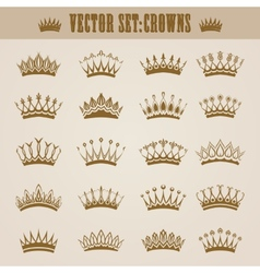 Victorian crowns vector