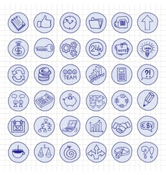 Hand drawn business buttons set vector