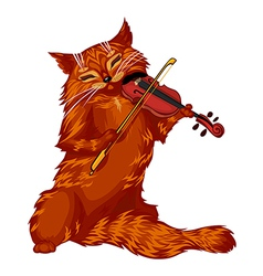Violin cat vector