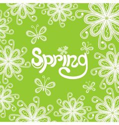 Spring nature patten background vector