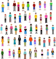Many different people vector