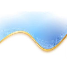 Blue transparent background gold border vector