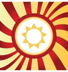 Sun abstract icon vector